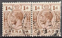 GRENADA 1923 - Canceled - Sc# 93 - 1d - PAIR - Grenade (...-1974)