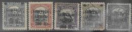 Brazil  1927    Sc#C1, C3, C6, C8, C10 Mint/used      2016 Scott Value $3.25 - Luchtpost