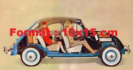 Reproduction Photographie Ancienne D'une Publicité Pour La Coccinelle Volkswagen Coupe Latérale - Reproductions