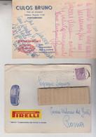 PIRELLI PORTOGRUARO VENEZIA BUSTA + CARTOLINA PNEUMATICI CULOS 1958 - Publicités