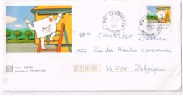 """Entier """"La Lettre"""" Oblitéré """"Cambuston/Réunion"""" Expédié à Vezin (Belgique) - Standaardomslagen En TSC (Voor 1995)"""