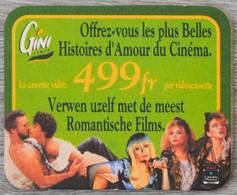 Sous-bock GINI Lemon Offrez-vous Les Plus Belles Histoires D'amour Cassette Vidéo Bierdeckel Bierviltje Coaster (V) - Portavasos