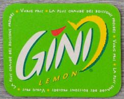Sous-bock GINI Lemon La Plus Chaude Des Boissons Froides Bierdeckel Bierviltje Coaster (CX) - Portavasos