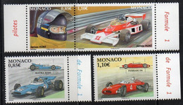 Monaco  2017.  Formula 1. Legendary. Race Cars. Drivers. James Hunt. Car . Drivers. James Hunt. Car. MNH - Unused Stamps