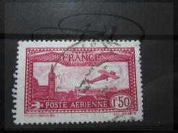 VEND BEAU TIMBRE DE POSTE AERIENNE DE FRANCE N° 5 !!! - 1927-1959 Afgestempeld