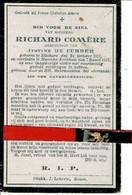 Richard Comère Echt Justine De Cubber O Etichove 1852 + Maerke-kerkem 1922 - Images Religieuses