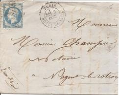 SEINE (60) LAC  PARIS OBLI ETOILE HOTEL DE VILLE Sur NAP Pour NOGENT LE ROTROU - 1849-1876: Classic Period