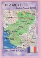 Carte QSL Radio Amateur - 14 ACR 27 France Région Pays De Loire - Amateurfunk