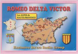Carte QSL Radio Amateur - RDV 03 France Alpes De Haute-Provence - Amateurfunk