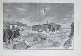 La Grande Marée Du 11 Septembre à Villers-sur-Mer - La Destruction Du Casino - Page Originale 1885 - Documentos Históricos