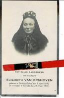 Elisabeth Van Orshoven O Cortrijk-dutzel 1852 + Gelrode 1918 - Images Religieuses