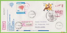 Voyo POLAND 1988 Balloon Mail Leszno Cat#57 Registered - Ballonpost