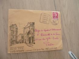 Lettre France Illustrée 15 F Rouge Cheffer Pour Poitiers Lusignan Avec Oblitération Daguin Lusignan Quiétude Camping.... - Maschinenstempel (Werbestempel)