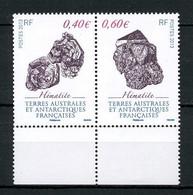 TAAF 2013  N° 643/644 ** Neufs MNH Superbes Minéraux Hématite Géologie - Unused Stamps