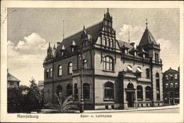 CPA Rendsburg In Schleswig Holstein, Spar- Und Leihkasse - Altri