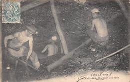 ¤¤  -   Dans La Mine  -  L'Abattage Du Charbon  -  Une Taille  -  Mineurs  -   Mine De Charbon          -  ¤¤ - Mines