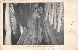 ¤¤  -   Charbonnage   -  Dans La Fosse: Vieux Plan Incliné, Dans Une Veine  -  Mineurs, Mine De Charbon          -  ¤¤ - Mines