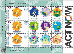 Kirgistan Kyrgyzstan 2020 Delivery Within 4 Weeks MNH ** Mi 157 ActNow Climate KB - Kyrgyzstan