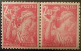France/French Stamp 1944 N°654 Anneau Lune Tenant Au Normal   ** TB - Ungebraucht