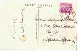 DOMREMY LA PUCELLE Vosges Carte Postale 40c Paix Violet Yv 281 Ob 8 6 1939 Hexa Pointillé Agence Postale Lautier F4 - Handstempels