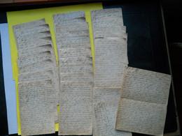 Militaria ,27 Lettres De Poilu à Sa Femme + 5 Enveloppes - 1914-18