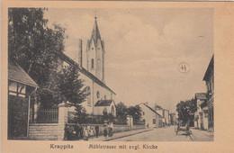 KRAPPITZ. Muhlstrasse Mit Evgl. Kirche - Schlesien