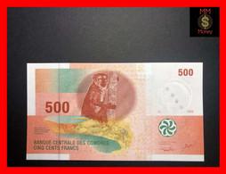 COMOROS  500 Francs 2006  P. 15  Sig. Abdoulbastoi - Rioux    UNC - Comoros