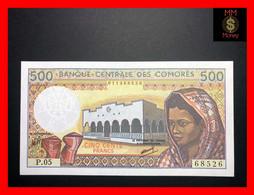 COMOROS  500 Francs 1986  P. 10  Sig. Ben Ali - Abdou     UNC - Comoros
