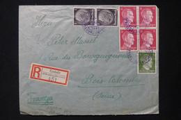 POLOGNE / ALLEMAGNE - Affranchissement De Czeladź En Recommandé Pour La France En 1942 Avec Contrôle - L 83738 - Gobierno General
