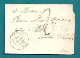 PAS DE CALAIS - St VENANT. CàD Du 20 JANVIER 1849 - 1849-1876: Classic Period