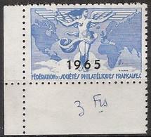 France - Fédération Des Sociétés Philatéliques Françaises (1965) Neuf ** - Exposiciones Filatelicas