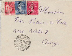 FRANCE LETTRE ST MARTIAL DE GIMEL CORREZE 1938 - Storia Postale