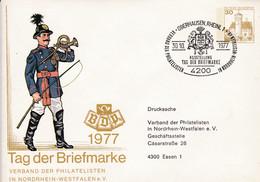 BRD, PU 108 C1/010d  BuSchl. 30, Tag Der Briefmarke 1977, LV NRW,  Adresse 31 Mm - Private Covers - Used