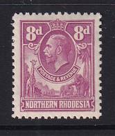 Northern Rhodesia: 1925/29   KGV     SG8     8d    MH - Rhodesia Del Nord (...-1963)