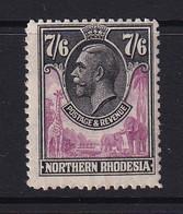 Northern Rhodesia: 1925/29   KGV     SG15     7/6d   MH - Rhodesia Del Nord (...-1963)
