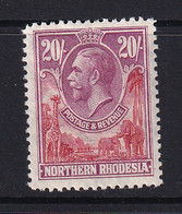 Northern Rhodesia: 1925/29   KGV     SG17     20/-   MH - Rhodesia Del Nord (...-1963)