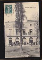 Herault / Roujan, Hotel De Ville Avec Du Monde Devant ! - Altri Comuni