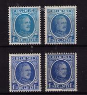 HOUYOUX ** / MNH N° 257 + 257 A + 257 Bleu Ciel + 257  = 4 Nuances à 9,90 / Lire - 1922-1927 Houyoux