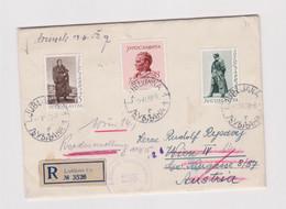 YUGOSLAVIA  LJUBLJANA 1952 Nice Registered Censored Cover To Austria,TITO - Covers & Documents