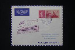 FRANCE - Cachet De L 'Inauguration De L 'Aéro Gare Du Bourget En 1937 Sur Enveloppe Pour Lyon - L 83763 - Luchtpost