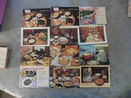 LOT DE 60    CARTES POSTALES    DE  RECETTES  DE  CUISINE - 500 Cartoline Min.