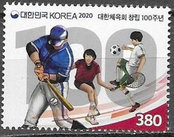 SOUTH KOREA, 2020, MNH,  SPORTS, OLYMPIC COMMITTEE,  FOOTBALL, TENNIS, BASEBALL,1v - Zonder Classificatie