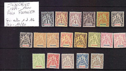 FRANCE COLONIE INDOCHINE 1889/1900 SERIE 17/20 ET ENTRE 1/16. FAUX FOURNIER - Sonstige