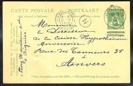 BELGIE Postkaart/Carte Postale Mi. P 53 Verzonden 1913 OIGNIES > Antwerpen - Postales [1909-34]