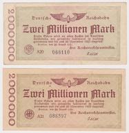 DEUTSCHLAND, Deutsche Reichsbahn Berlin, 13 X 2 Millionen Mark - Other