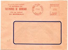 GIRONDE - Dépt N° 33 = BORDEAUX DOCKS 1967 = FLAMME  EMA Thème SUCRE = RAFFINERIES SUCRERIES SAY - Ernährung