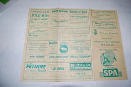 Programme Des Fetes Aout1963 Spa - Programas