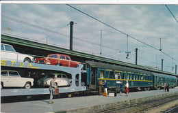 Train Auto Couchettes , Chemins De Fer Français ,car Sleeper Express , Auto Slaaptrein - Trenes