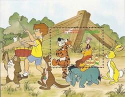MWD-BK1-004-2 MINT PF/MNH ¤ ANGUILLA 1982 BLOCK ¤ THE WORLD OF WALT DISNEY -- FRIENDS OF WALT DISNEY - Disney
