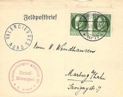 Feldpostbrief Valenciennes - Marburg / Lahn 1915 - Covers & Documents